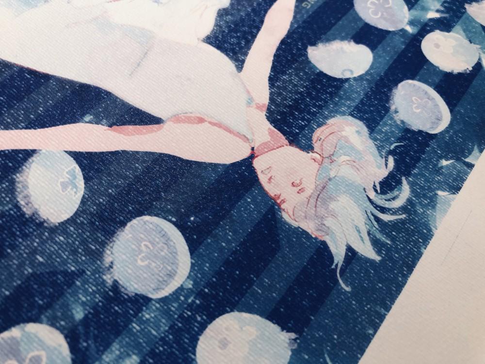 Moonridersの楽曲をテーマにした「9月の海はクラゲの海」展に参加しています!本日最終日お見逃しなく!